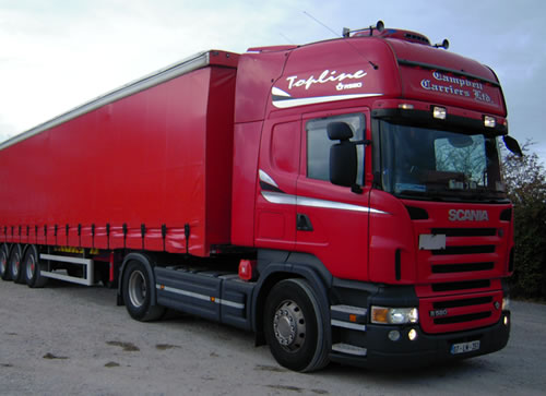 curtainside trailer  from campbells couriers sligo
